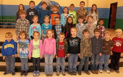 "THE SHERIDAN ELEMENTARY SCHOOL 2013 February ""Citizens of the Month"" have been selected.  They are: (front row) kindergarten: Dalton Jones, Zoie Cook, Darbie Grissom, Faith Benning, Chandler Rupe, Randy Gaddy, Aden Erwin, Cooper Cody, Bryan Matheny, Dalton Summit; (middle row) first grade: Jesse Mashburn, Alyssa Stewart, Sophia Livingston, Peyton, Wells, Alex Logan, Hunter Austin, Baker Brady, Gavin Vaughn; (back row) second grade: Madelyn Wheat, Brodie McElroy, Jonah Williams, Hunter Threlkeld, Gracie Harris, Pete Riley, Kennedy Stockton and Cameron Grace Roshto."